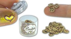 Miniature doll chocolate cookies and cookie jar tutorial - Dollhouse DIY