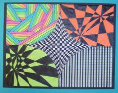 Op Art by Timothy, grade 5 (Art Teacher Donna Staten)