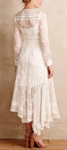 Silk embroidered dress - INCREDIBLY BEAUTIFUL!!