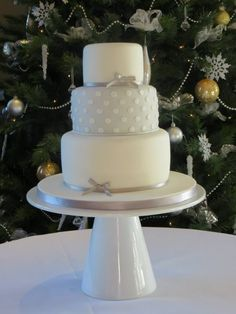 Grey spotted wedding cake - lemon, carrot and chocolate brownie layers...thank you Cloud Nine Cakes!