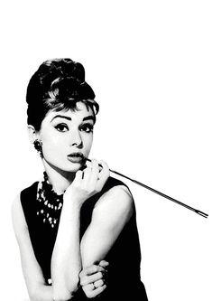 Audrey Hepburn Digital download Poster Print black and white, breakfast at tiffany's, tiffany, art, modern , pop art, home decor. $5.00, via Etsy.