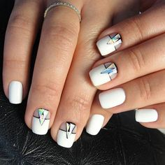 Until a few years ago at the height of its popularity had long nails square or p … - Nail Art Designs Beautiful Nail Art, Gorgeous Nails, Pretty Nails, Stunningly Beautiful, Hot Nails, Hair And Nails, Nail Polish Designs, Nail Art Designs, Tribal Designs