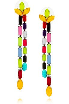 """I don't think I would ever wear these, but they are fun! Tom Binns """"dot dash"""" earrings"""