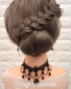 Cute Hairstyles For Teens, Bun Hairstyles For Long Hair, Braids For Long Hair, Pretty Hairstyles, Braided Hairstyles, Easy Updo Thin Hair, Cute Updos Easy, Upstyles For Short Hair, Simple Hairstyles For Medium Hair