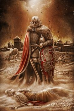 The original is taken from lyubows in the Pictures of Igor Evgenievich Ozhiganov. Meeting Sacred Fire Belbog Belobog - the alleged West Slavic deity. Viking Art, Viking Warrior, Vikings, Viking Character, Medieval, Arcane Trickster, Viking Culture, Asatru, Norse Mythology