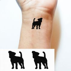 Temporary TATTOO Black Jack Russell Terrier par HAtattoosAndNails