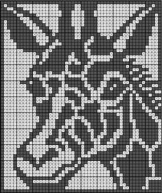 Filet Crochet Charts, Knitting Charts, Crochet Stitches, Knitting Patterns, Fuse Bead Patterns, Beading Patterns Free, Cross Stitch Designs, Cross Stitch Patterns, Rugs