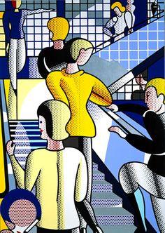 Roy Lichtenstein - Bauhaus Stairway - 1988