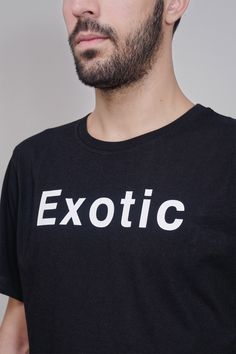 Feeling Erotic or Exotic? This is SOULLAND's new motto for their Fall Winter Double E is a t-shirt with print front and back. Erotic, Cotton, T Shirt, Men, Black, Supreme T Shirt, Tee Shirt, Black People, Tee