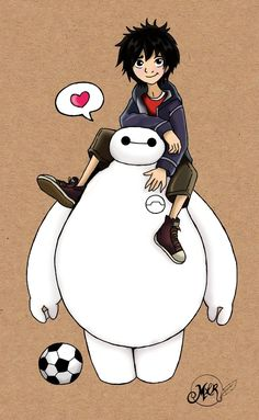 Latimer: I just watched the Disney trailer for Big Hero 6 - so excited to see it! Hiro and Baymax are too cute (the characters belong to Marvel/Disney, . Baymax and Hiro Disney Pixar, Disney Cartoons, Disney Art, Hiro Big Hero 6, Big Hero 6 Baymax, Cute Disney Drawings, Cute Drawings, Chibi Kawaii, Hiro Hamada