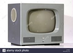 broadcast, television, design TV set Braun HF 1, designer: Herbert Hirche, 43 centimeter screen diagonal, power button under the Stock Photo
