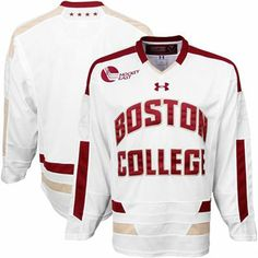 BC Eagles Hockey Jersey | Under Armour Boston College Eagles Tackle Twill Hockey Jersey - White