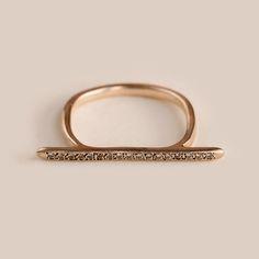 WHITE DIAMONDS LINE RING - CHERNOV JEWELLERY Gold, 9/14 carat, Weight 2.3 g http://www.chernovjewellery.com/WHITE-DIAMONDS-LINE-RING