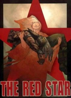 The Red Star by Christian Gossett    Awesome graphic novel/comic book. Not sure if they ever finished the series...I never found it if they did :(