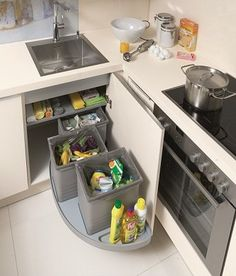 The Best Kitchen Storage Ideas. Today we will show you new modern and luxury designs. Kitchen Pantry Design, Kitchen Organisation, Diy Kitchen Storage, Modern Kitchen Design, Home Decor Kitchen, Interior Design Kitchen, Home Kitchens, Kitchen Modular, Cuisines Design