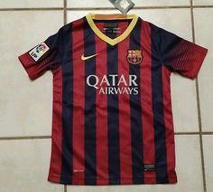 Rare NWT Authentic NIKE F.C. Barcelona Soccer Jersey Youth  Medium