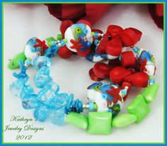 Summertime and the livin' is colorful with lampwork, coral, magnesite, and thoughts of the ocean!