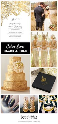 Color Love: Black and Gold #goldwedding #saveyourbudget