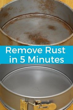 How to remove rust. This cleaning hacks will save you money by making your old pans look new again. Cleaning life hacks get your pans clean. Household cleaning tips clean your pans naturally. Deep cleaning house your pans. Deep Cleaning Tips, House Cleaning Tips, Diy Cleaning Products, Spring Cleaning, Cleaning Hacks, Cleaning Rust, Cleaning Recipes, Hacks Diy, Cleaning Aluminum Pans