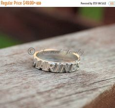 HOLIDAY SALE Sterling Silver US Marines Ring  by ArmoredJewelry