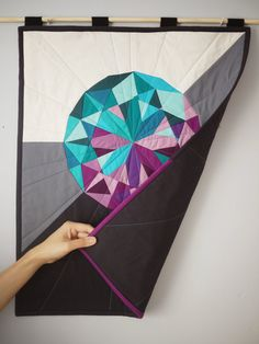 Alexandrite Quilted Wall Hanging Luxe Edition by 3rdStoryWorkshop