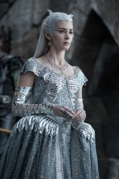 Emily Blunt as Queen Freya of the North  The Huntsman: Winter's War (2016)  Costumes by Colleen Atwood