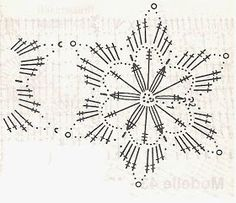 Ablakom: Horgolt hópelyhek 1 Crochet Snowflake Pattern, Crochet Stars, Crochet Doily Patterns, Crochet Snowflakes, Crochet Diagram, Crochet Doilies, Crochet Flowers, Crochet Stitches, Handmade Christmas Decorations