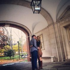 According to Miami folklore, couples who kiss at the Upham arch will get married. Read about the tradition here #MiamiOH