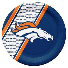 Denver Broncos Disposable Paper Plates