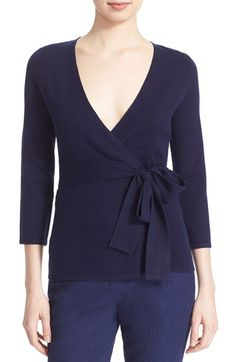 Diane von Furstenberg 'Ballerina' Silk Wrap Sweater available at #Nordstrom