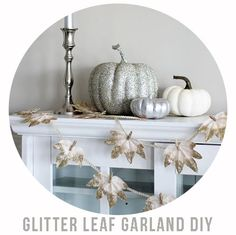 Glitter Leaf Garland DIY