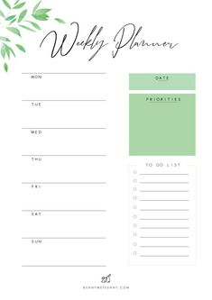 Free Printable Planner Pages - Leaves Theme 1 - Bunny Met Sunny Free Printable Planner Pages - Leaves Theme 1 - Bunny Met Sunny Get more photo about s. To Do Planner, Daily Planner Pages, Printable Planner Pages, Study Planner, Planner Layout, Free Printables, Week Planner, College Planner, Printable Calendars