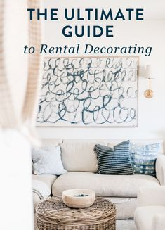 The Ultimate Guide to Rental Home or Apartment Decorating Ideas Coffee Table With Hidden Storage, Diy House Projects, Affordable Home Decor, Decorating On A Budget, Home Decor Inspiration, Room Decor, Diy Ideas, Decor Ideas, Military Spouse