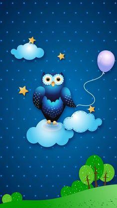 Owl Wallpaper, Iphone Wallpaper, Hello Kitty, Wallpapers, Wall Papers, Colorful Wallpaper, Wallpaper, Backgrounds