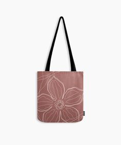 Botanical inspired line art tote bag Christmas gift for her. Modern high quality floral shopping/ gym bag in earthy tones, terracota rusty red. Cute Presents, Unique Presents, Christmas Bags, Christmas Gifts For Her, Line Art Design, Red Tote Bag, Gifts For An Artist, Yoga Bag, Printed Tote Bags