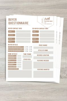 Real Estate Staging, Real Estate Buyers, Real Estate Career, Real Estate Leads, Questionnaire Template, Real Estate Templates, Real Estate Branding, First Time Home Buyers, Presentation