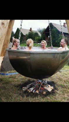 Medieval Hot Tub.......this one made me laugh!