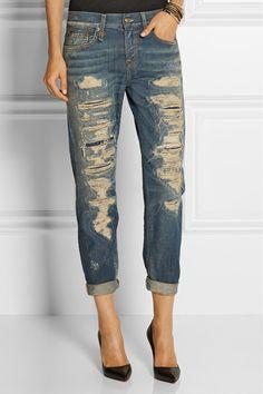 R13 Boy Skinny mid-rise boyfriend jeans. #r13 #cloth #jeans | R13 ...
