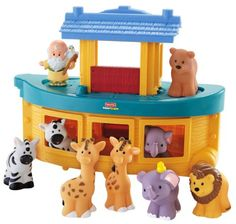 Amazon.com : Fisher-Price Little People Noah's Ark : Toy Figure Playsets : Toys & Games