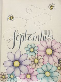 My September spring bullet journal cover! It's Spring in South Africa peeps