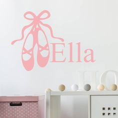 Ballet Shoes Personalised Wall Stickers
