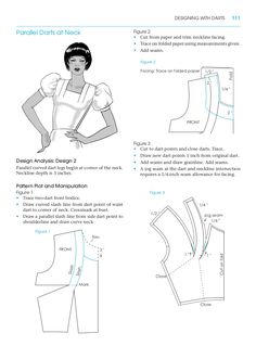 Asymmetric curved dart. Pattern making for fashion design. Learn ...