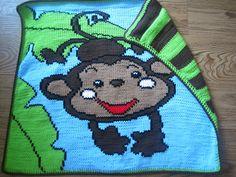 This is sooooo cute! - Machine Knit Monkey Baby Blanket by chassityo, via Flickr