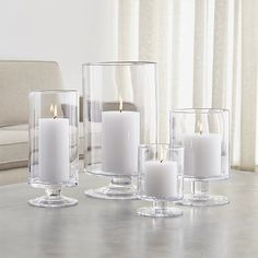 $14.95 - $39.95 London Glass Hurricane Candle Holders