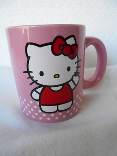 cb17008d2122 Hello Kitty Ceramic Coffee Soup Mug By Sanrio 12 oz Cup Item 18061  Sanrio  Soup
