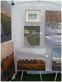 Great & inexpensive way to display at art shows. Art Display Systems for Art Festivals | FineArtViews Blog by FASO