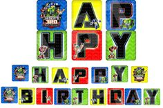 Rescue Bots Banner Rescue Bots Happy Birthday by lovebuggydesigns, $5.99