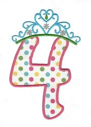 Tiara 4 Applique - 3 Sizes! | What's New | Machine Embroidery Designs | SWAKembroidery.com Applique for Kids