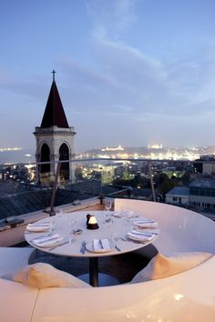 360Istanbul: Located on the top floor of the historic Mısır Apartment building offering a 360 view of the city - hence its name! On the weekend 360 transforms into a night club with live performers (often with an unusual twist, for example gyrating wall climbers) and the cocktail bar is packed.    Read More: http://www.theguideistanbul.com/spots/detail/943/360istanbul#ixzz2ItfeZwBy