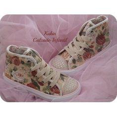 Zapatos niña - Calzado infantil - Zapatillas flores Primigi - Lonetas lonas deportivas